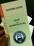 California Zephyr timetable