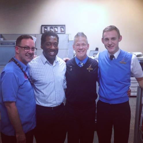 Blair Kimball, me, Arnie Tharp, Todd Horn