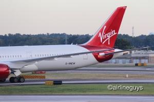 Virgin 787 arrives at ATL
